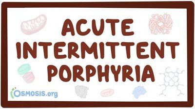 Porfiria Intermiten Akut apakah pasien menderita Acute Intermittent